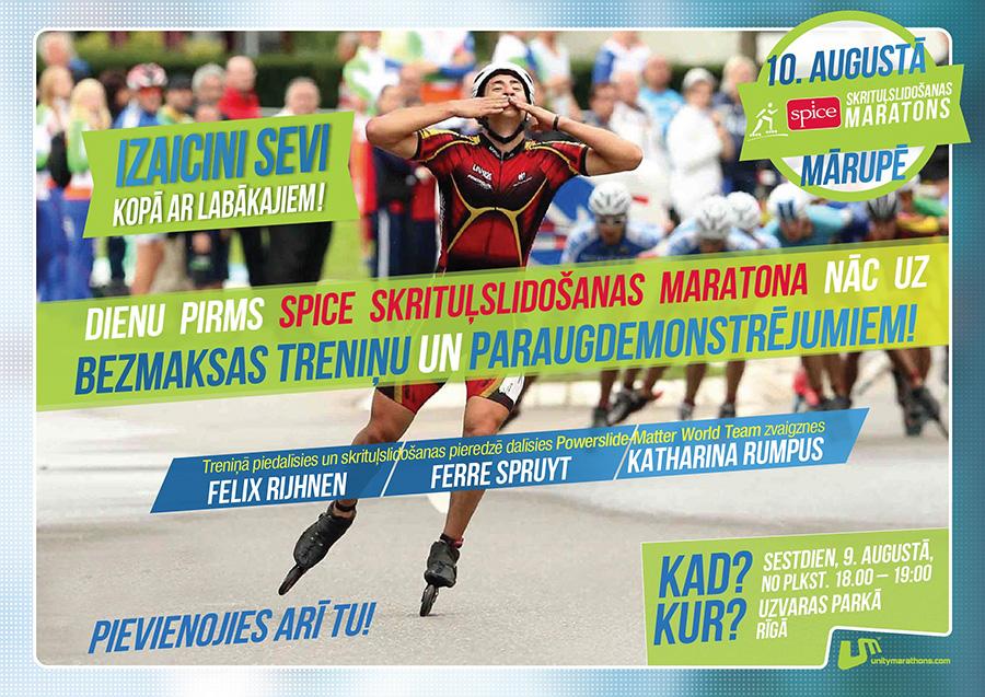 Felix Rijhnen- Powerslide skate clinic, Latvia